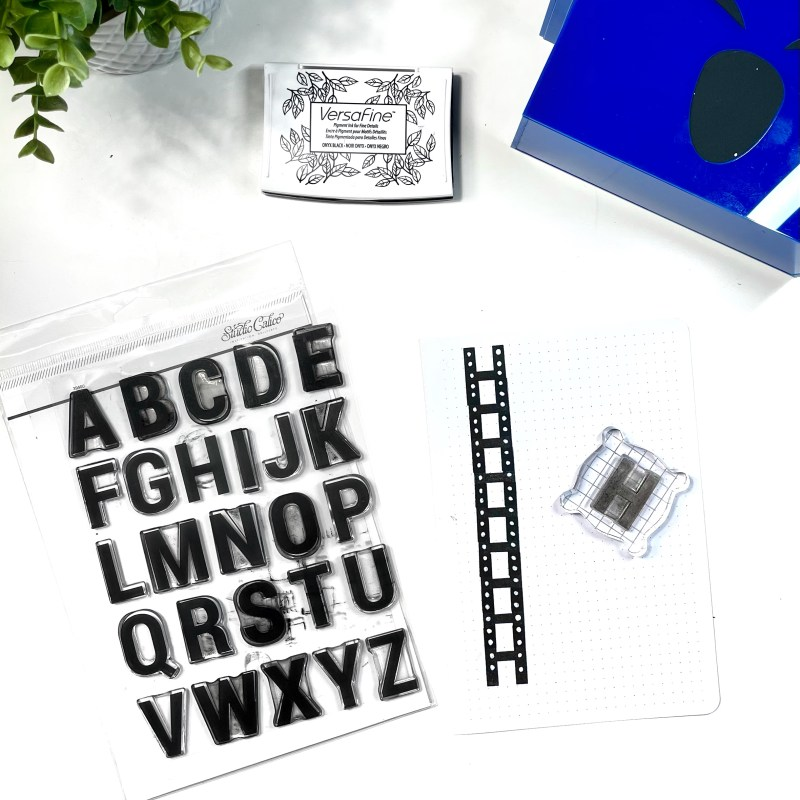Alphabet Stamps as Borders
