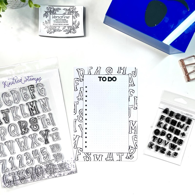 Alphabet Stamps as Backgrounds and Patterns