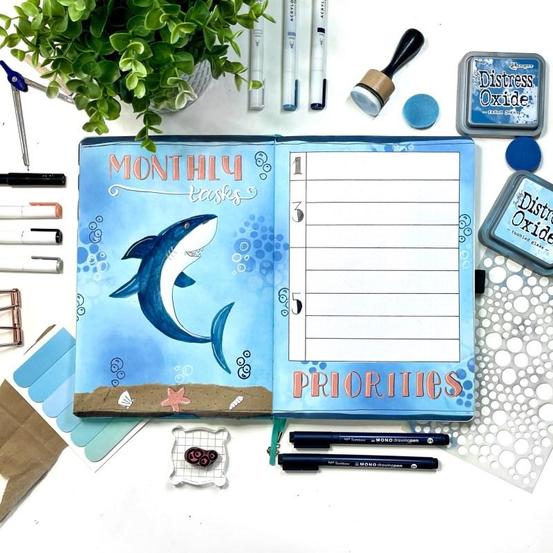 Shark Bullet Journal Setup