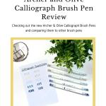 Archer & Olive Brush Pen Review