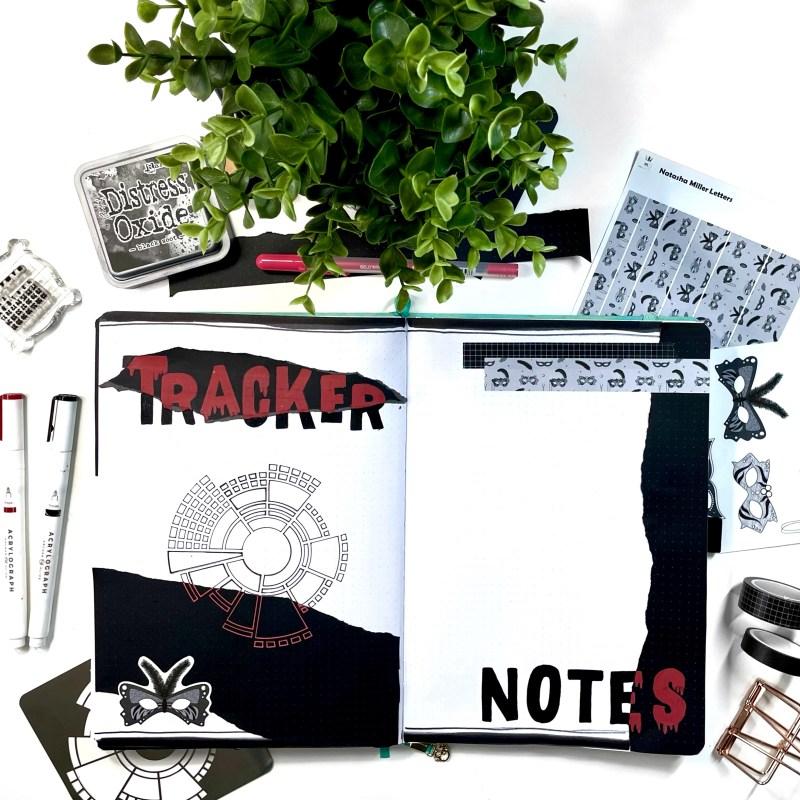 Halloween Bullet Journal Setup
