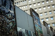 The Berlin Wall: front view