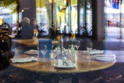 Restaurant close to Potsdammer Platz through the window