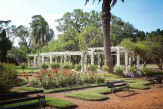 One of many gardens in Buenos Aires, Argentina