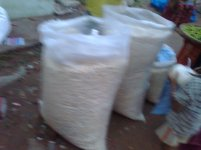 pop corns sold in bags. blurry pic though.