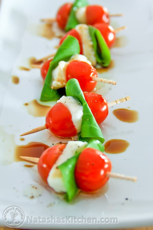 Skewers Basil Tomato Cheese Appetizer