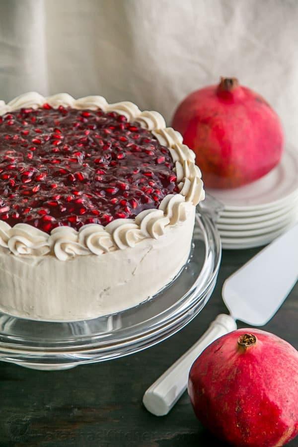 Christmas Pomegranate Cake Recipe