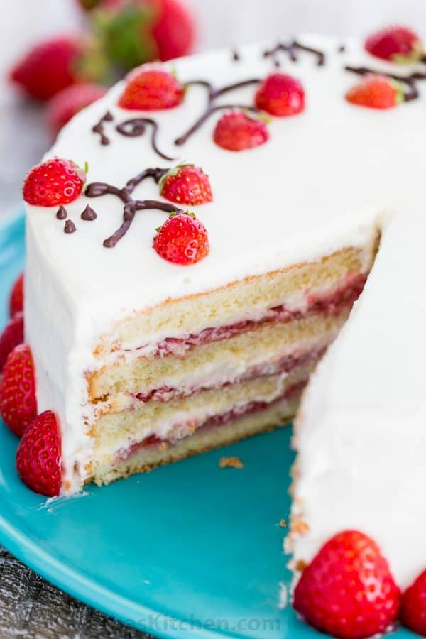 How To Make Strawberry Cake Recipe Video