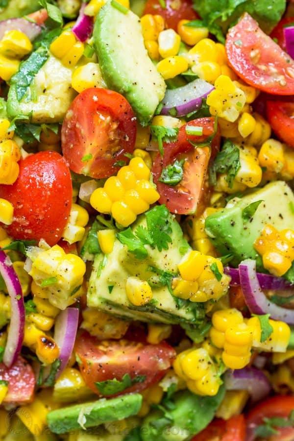 Avocado Corn Salad recipe up close