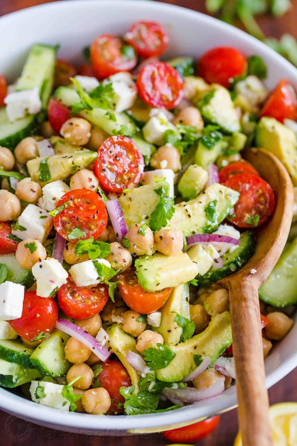 Chickpea Salad with Lemon Dressing