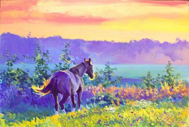 картина с лошадьми
