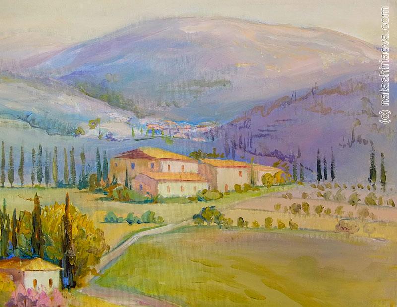 Мечты о Провансе - картина маслом 8