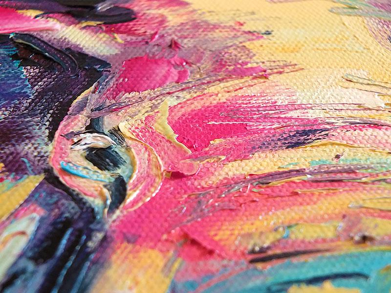 Деталь картины - глаз слона