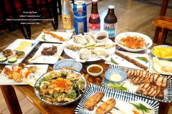 【美食♔台南中西區酒吧】酒7夜食。超美的調酒!台灣買不到限量版酒品,50元串燒、超大韓國生蠔、隱藏版菜單