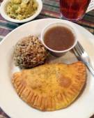 Meat Pie Breakfast at Lasyone's in Natchitoches, Louisiana.