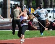 Ashley Aldredge, pictured April 25 at NSU's Leon Johnson  Invitational