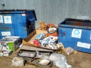 Items Not Disposed of Properly at Recycling Center