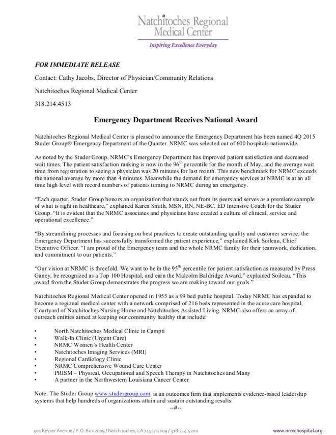 NRMC ED Pressrelease 9.29.2015