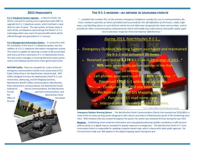 2015 911 Annual ReportPage2