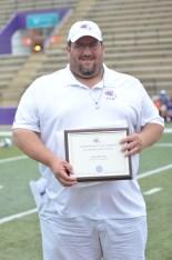 NSU John Evans with Legendary Link award
