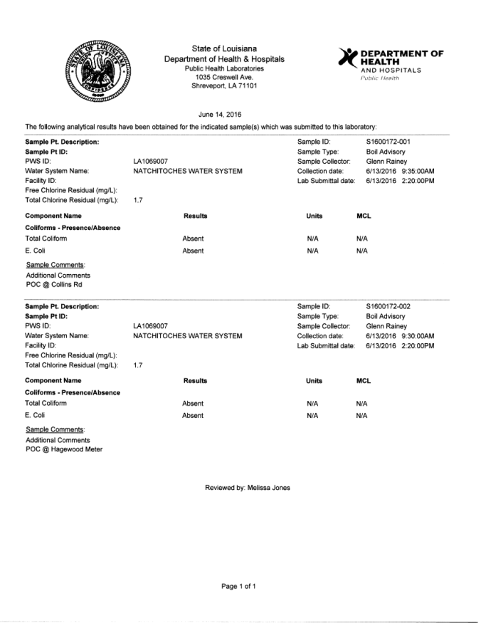 Boil Order Rescinded 6-14-16-1