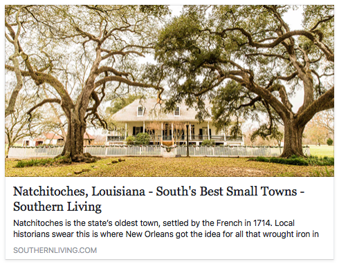 Natchitoches louisiana best small towns by southern Best small town to live