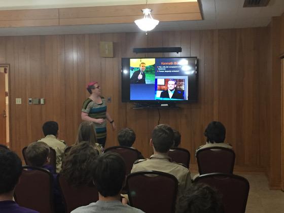 Rittmayer educates Troop 60
