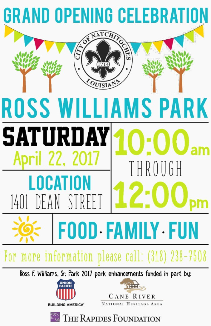 Ross Williams Grand Opening Flyer