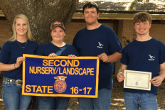 State Runner Up_Nursery_Landscaping_Tabitha Dove, Kelsey LaCaze, Preston Tibbett, and Dylan Daniels