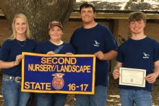 State Runner Up_Nursery_Landscaping_Tabitha Dove, Kelsey LaCaze, Preston Tibbett, and Dylan Daniels