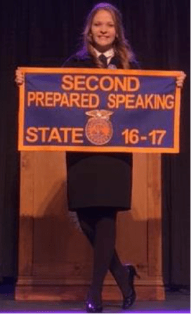 State Runner Up_Prepared Public Speaking_Brooklyn Hampton