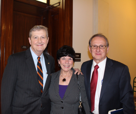 Rick and Mary Ann with Senator John Kennedy