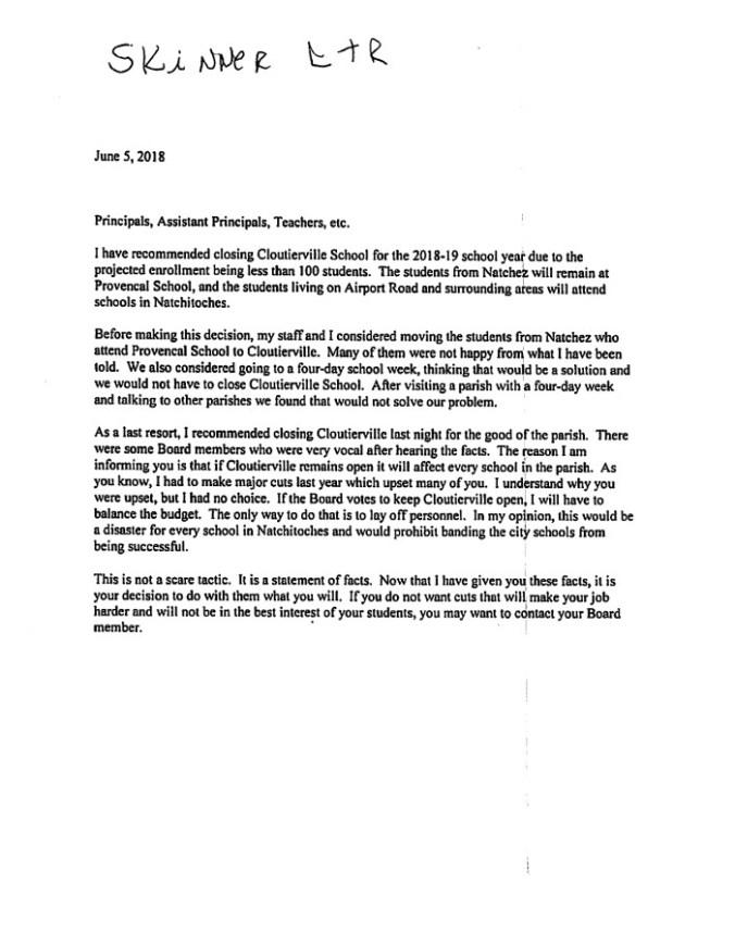 Skinner Letter 06-05-18