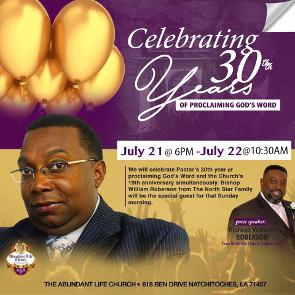 Pastor's 30th Preaching Anniversary