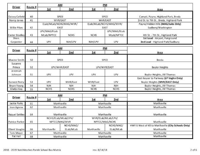 NPSB Bus Matrix 8-14-18 Rev 8-15-18-2