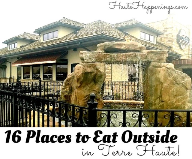Places to eat outside in Terre Haute with kids!
