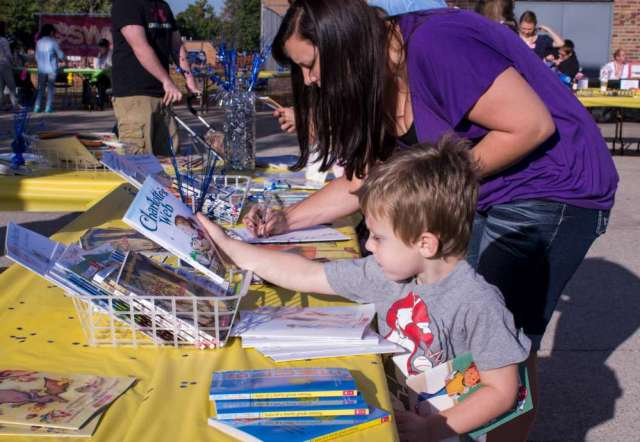 free books at family learning day