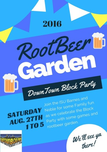 Root Beer Garden at the Downtown Terre Haute Block Party