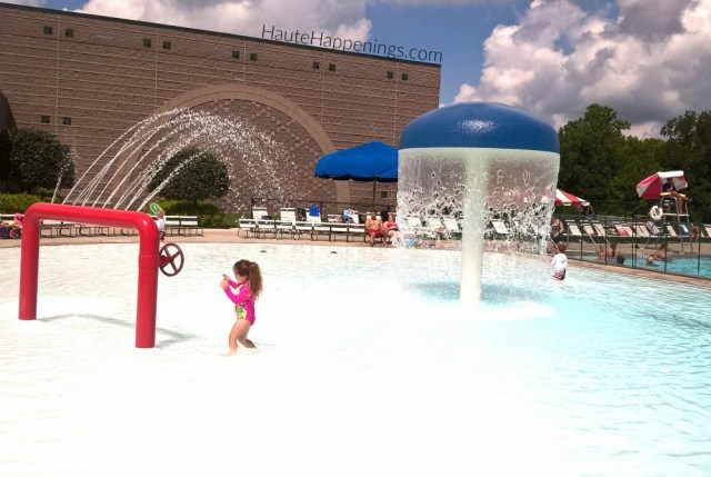 Wading pool at YMCA in Fishers, Indiana
