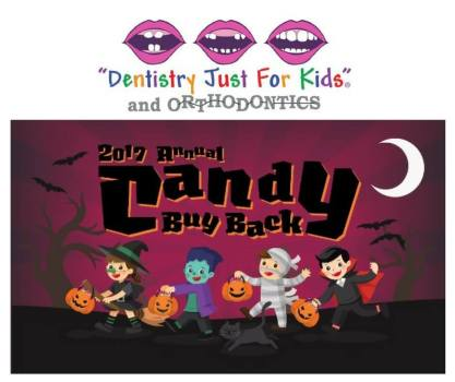 Candy buy back event in Terre Haute, Indiana at Dentistry Just for Kids