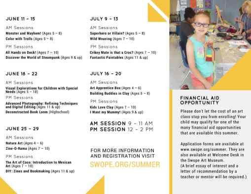 Swope Summer Art Studio--Art camps and classes for kids in Terre Haute