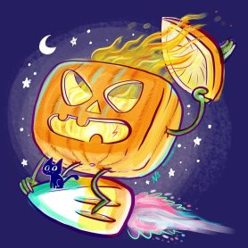 Hiyo, Candy Corn! Away!