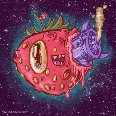 Nate-Bear- Strawberry-Moon-Illustration