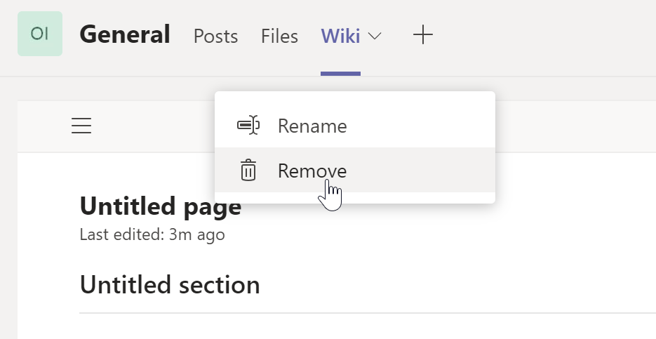 Replace Microsoft Teams' wiki tab with a OneNote notebook tab