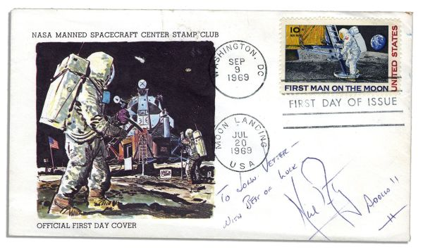Lot Detail Neil Armstrong First Day Cover Signed