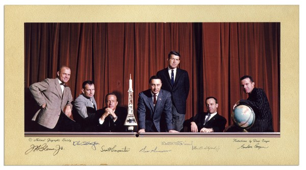 Mercury Seven Astronauts Autographs Sell for $5,600 at Nate's