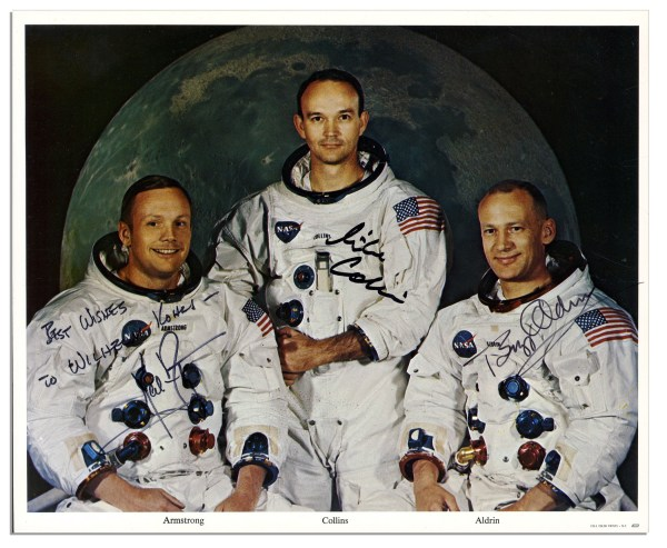 Lot Detail - Apollo 11 Crew Signed 10'' x 8'' Photo ...