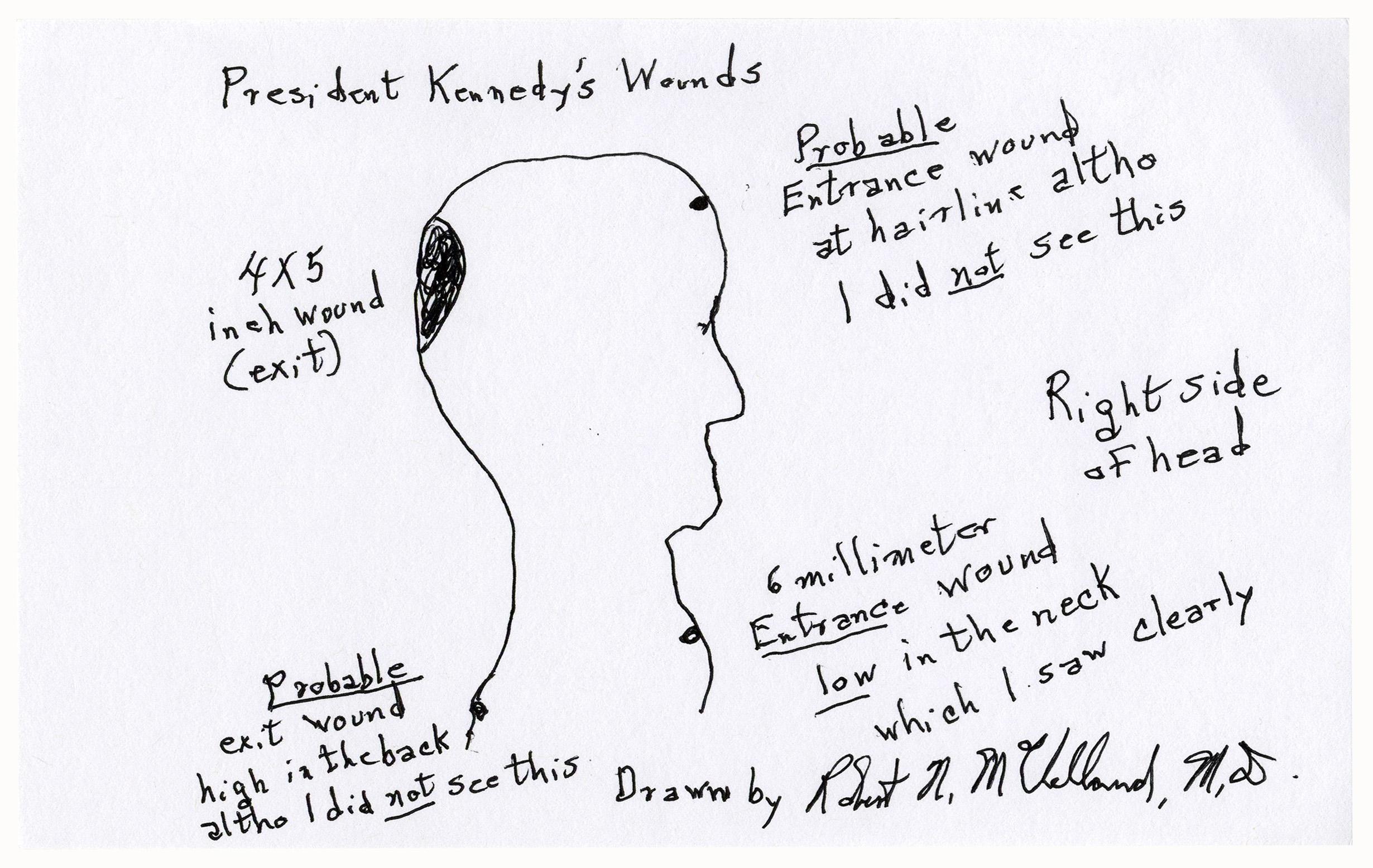 Robert Mcclelland Drawing Of Jfk S Fatal Injuries Sell For