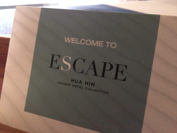Welcome Card | Escape Hua Hin