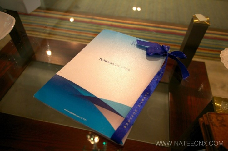 menu - Bangkok Airways - Blue Ribbon Club Lounge (Suvarnabhumi International Airport - BKK)